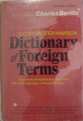Image for DICTIONARY OF FOREIGN TERMS