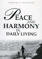 Image for PEACE AND HARMONY IN DAILY LIVING