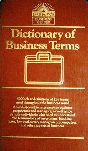 Image for DICTIONARY OF BUSINESS TERMS (BARRON'S BUSINESS GUIDES)