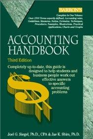 Image for ACCOUNTING HANDBOOK (BARRON'S ACCOUNTING HANDBOOK)