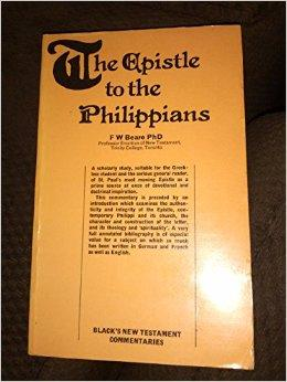 Image for EPISTLE TO THE PHILIPPIANS (BLACK'S NEW TESTAMENT COMMENTARIES)
