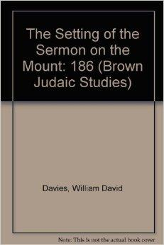 Image for SETTING OF THE SERMON ON THE MOUNT (BROWN JUDAIC STUDIES)
