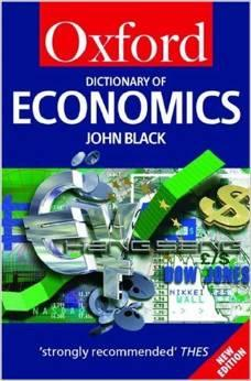 Image for A DICTIONARY OF ECONOMICS (OXFORD QUICK REFERENCE)