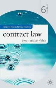 Image for CONTRACT LAW (PALGRAVE LAW MASTERS)