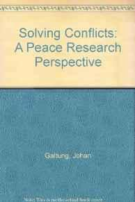 Image for SOLVING CONFLICTS: A PEACE RESEARCH PERSPECTIVE