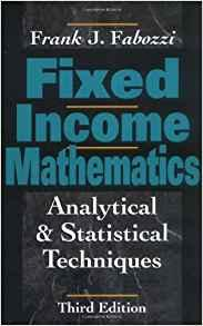 Image for FIXED INCOME MATHEMATICS