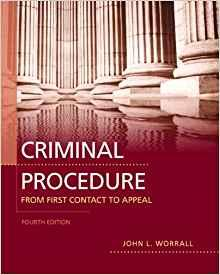Image for CRIMINAL PROCEDURE: FROM FIRST CONTACT TO APPEAL (4TH EDITION)