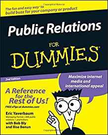 Image for PUBLIC RELATIONS FOR DUMMIES