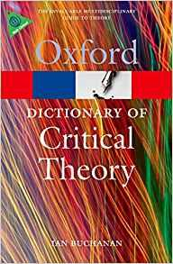 Image for A DICTIONARY OF CRITICAL THEORY