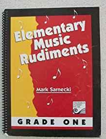 Image for ELEMENTARY MUSIC RUDIMENTS. GRADE ONE