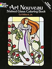 Image for ART NOUVEAU STAINED GLASS COLORING BOOK