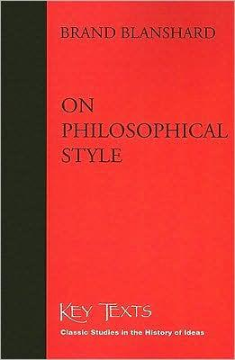 Image for ON PHILOSOPHICAL STYLE