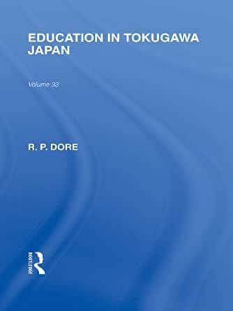 Image for EDUCATION IN TOKUGAWA JAPAN